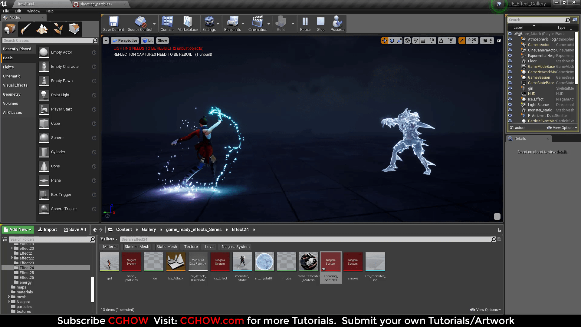 Ice Hit Effect | Unreal Engine Niagara Tutorial