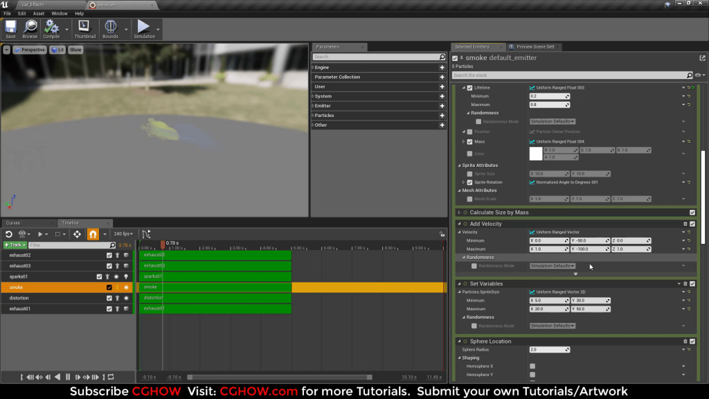 Car Exhaust Effect in UE4 Niagara Tutorial