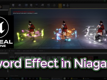 Sword Effect in UE4 Niagara Tutorial