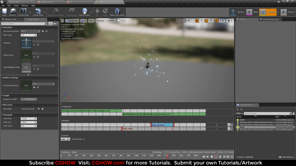 Unreal Engine Niagara Tutorial | Attack Effect with custom widget for Hue and Color Value