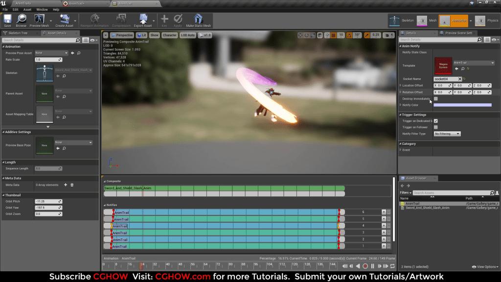 Unreal Engine Niagara Tutorials | Sword Trails | AnimTrails