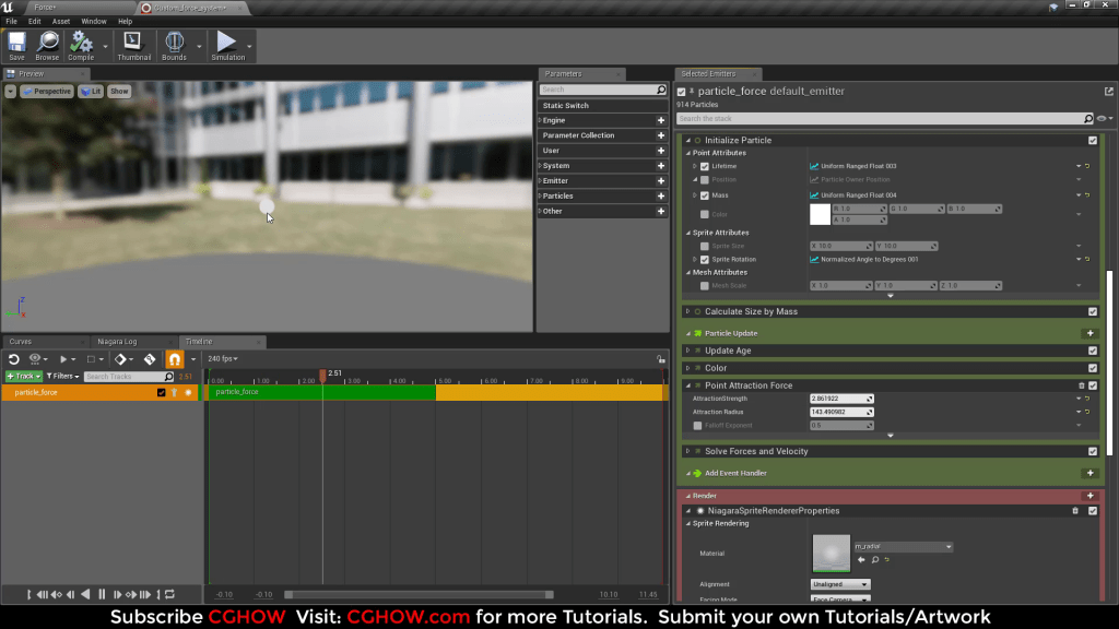 User Attraction Force with Niagara Variable in Blueprint   UE4 Tutorials