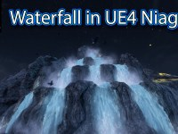 Waterfall Effect in UE4 Niagara Tutorial