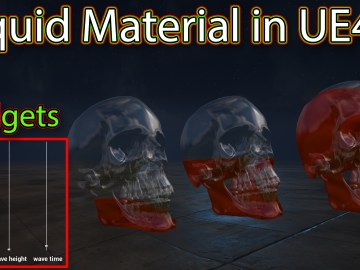 Liquid Material in Unreal engine