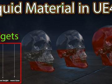 Liquid Material in Unreal engine