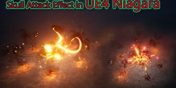 Skull Attack Effect in Unreal Engine Niagara Tutorial