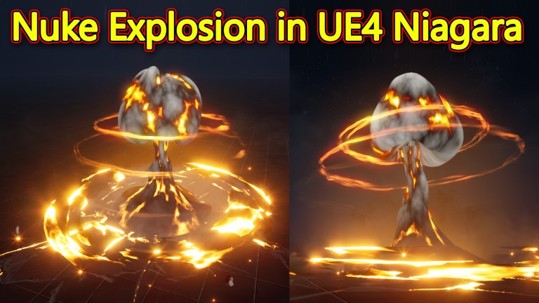 Unreal Engine Niagara Tutorial | Nuke Explosion Effect Tutorial