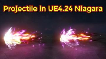 Unreal Engine 4.24 Niagara Tutorial | Projectile Effect