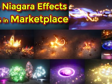 Unreal Engine Niagara Effects pack 04 in Marketplace