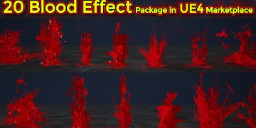 20 Blood Effect Package in UE4 Marketplace