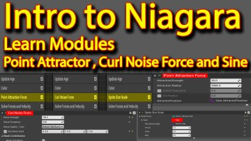 Intro to Niagara | Curl Noise | Point Attractor | Sine | Unreal Engine Niagara Tutorial