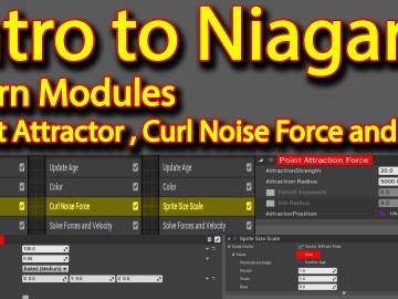 Intro to Niagara   Curl Noise   Point Attractor   Sine   Unreal Engine Niagara Tutorial