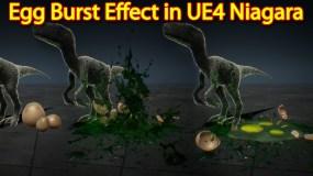 Egg Burst Effect | Unreal Engine Niagara Tutorial | UE4 Niagara Egg Explode