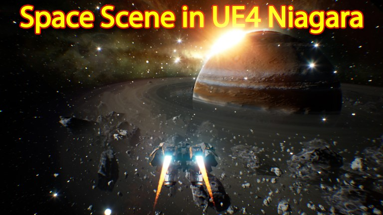 Unreal Engine Niagara Tutorial | Space Scene | Saturn Planet
