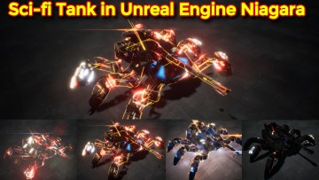 Sci-fi Tank Effect   Unreal Engine Niagara Tutorials   UE4 Niagara Scifi Tank