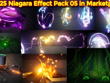 UE4.25 Niagara Effects Pack 05 in Martketplace