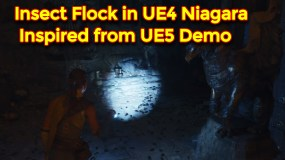 Insect Flock in UE4 Niagara | Inspired From UE5 Demo