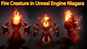 Fire Creature Effect | Unreal Engine Niagara Tutorial | UE4 Niagara Fire
