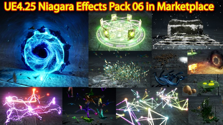 UE4.25 Niagara Effects Pack 06 in Martketplace