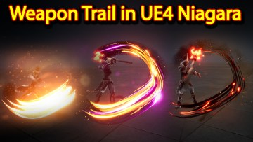 Weapon Trail Effect | Unreal Engine Niagara Tutorials | UE4 Niagara Weapon Trails