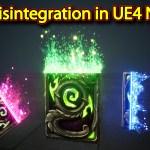 Card Disintegration Effect | Unreal Engine Niagara Tutorials | UE4 Niagara Disintegration