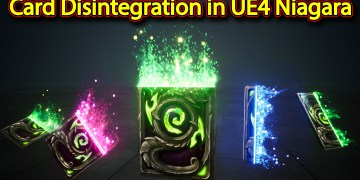 Card Disintegration Effect | Unreal Engine Niagara Tutorials | UE4 Niagara Disintegration