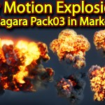 Slow Motion Explosion in UE4 Niagara Pack 03 in Marketplace