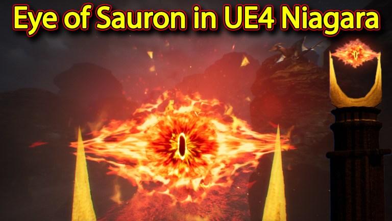 Eye of Sauron from The Lord of the Rings | Unreal Engine Niagara Tutorials | UE4 Niagara Eye FX