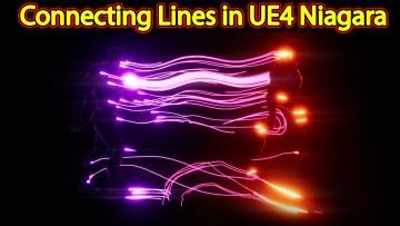 Connecting Lines Effect   Unreal Engine Niagara Tutorials   UE4 Niagara Ribbons