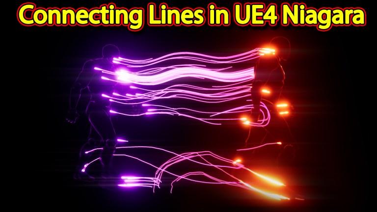 Connecting Lines Effect | Unreal Engine Niagara Tutorials | UE4 Niagara Ribbons