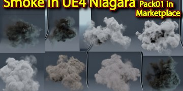Smoke in UE4 Niagara Pack01 in Unreal Engine Marketplace
