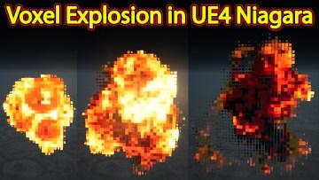 Voxel Explosion   Unreal Engine Niagara Tutorials   UE4 Niagara Voxel Explosion