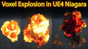 Voxel Explosion | Files on Patreon | Unreal Engine Niagara Tutorials | UE4 Niagara Voxel Explosion