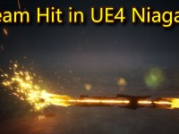 Beam Hit Effect | Unreal Engine Niagara Tutorials | UE4 Niagara Beam