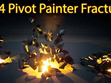 UE4 Pivot Painter Fracture
