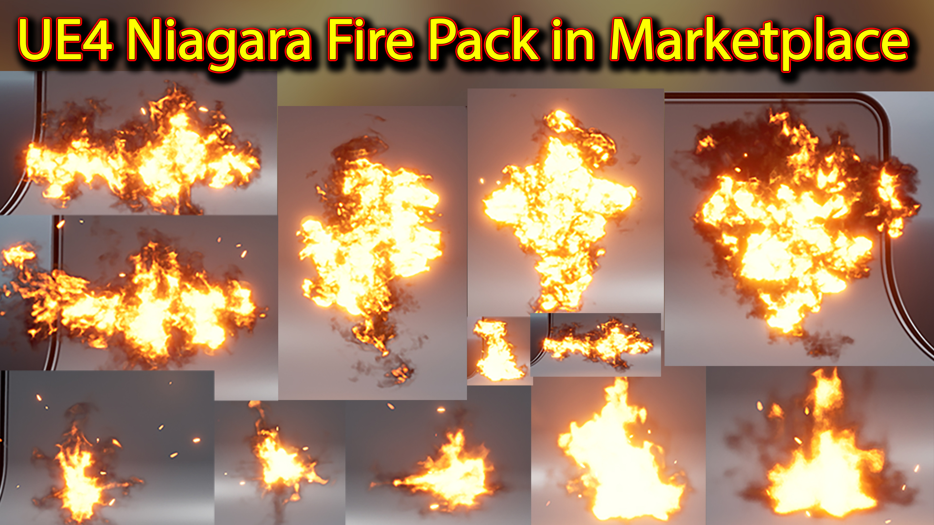 UE4 Niagara Fire Pack 01 in Marketplace