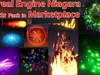 Unreal Engine Niagara Effects pack in marketplace