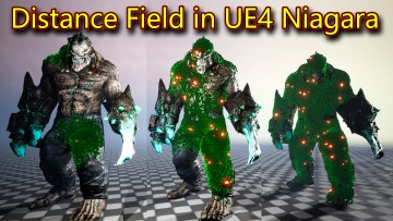 Distance Field in UE4.26 Niagara
