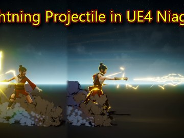 UE4 Niagara Lightning Projectile Tutorial