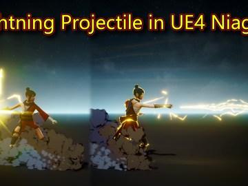 UE4 Niagara Lightning Projectile Tutorial