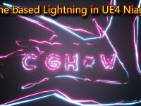 UE4 Niagara Spline based Lightning