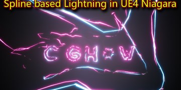 UE4 Niagara Spline based Lightning