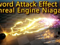 Sword Attack Effect | Unreal Engine Niagara Tutorials | UE4 Niagara Sword Effect