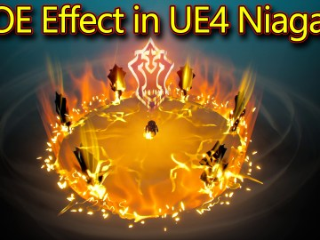 AOE Effect | Unreal Engine Niagara Tutorial | UE4 Niagara AOE Effect
