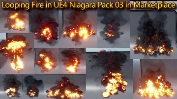 Looping Fire in UE4 Niagara Pack03 in Marketplace