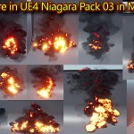 Looping Fire in UE4 Niagara Pack03 in Marketplace