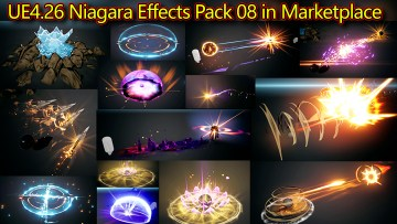 UE4.26 Niagara Effects Pack 08 in Marketplace