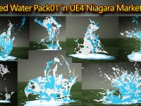 Stylized Water in UE4 Niagara Pack01 | Marketplace