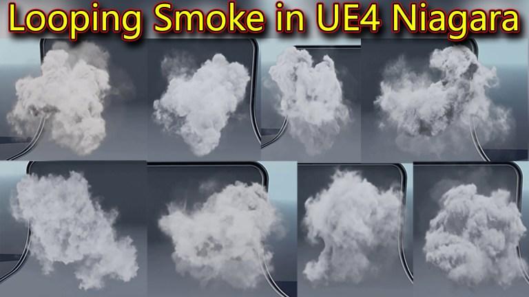 Looping Smoke in UE4 Niagara Pack 01 in Marketplace