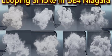 Looping Smoke in UE4 Niagara Pack 01 in Marketplace
